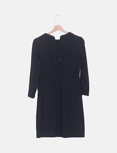 Plisado Negro Vestido Negro Detalle Vestido Detalle Detalle Negro Negro Plisado Plisado Vestido Detalle Vestido USGMVqzp