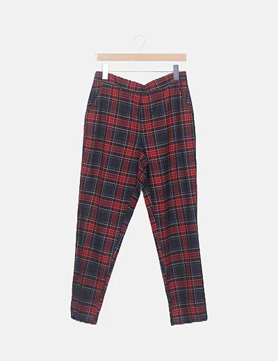 Pantalón tartán rojo