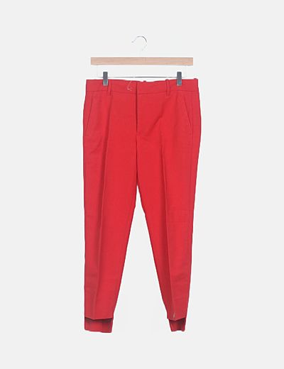 Pantalón rojo traje