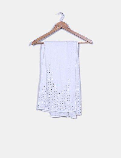 Foulard blanco tachas