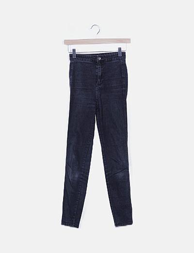 Jeans skinny negro high waist