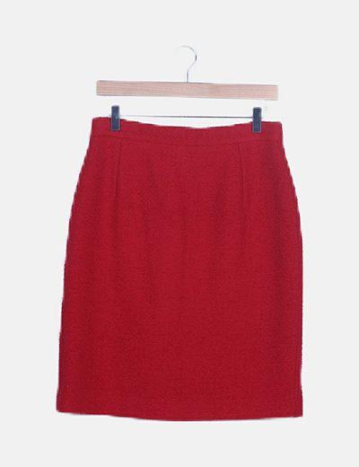 Falda roja tweed