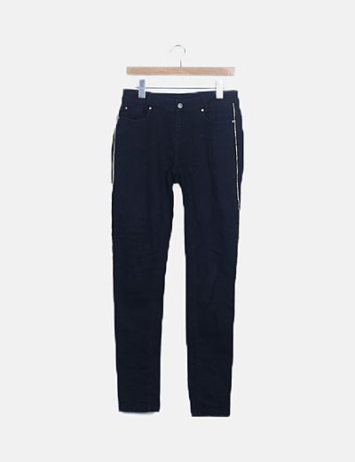 Jeans negros banda lateral