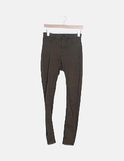 Jeans verde high waist