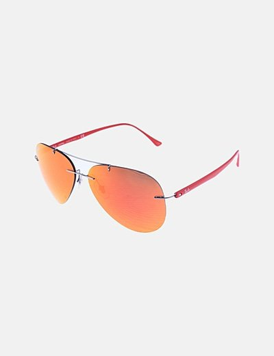 Gafas aviador cristales rojos