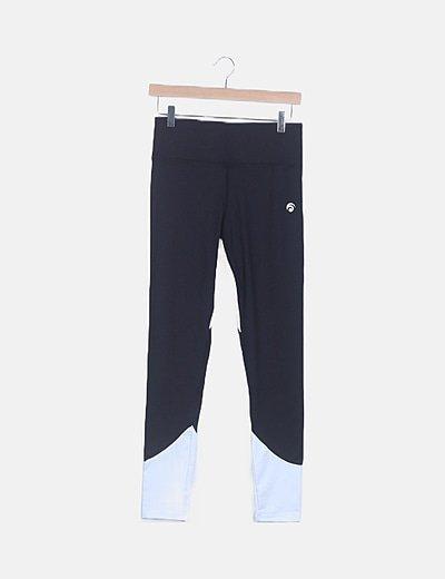 Legging negro y blanco deportivo