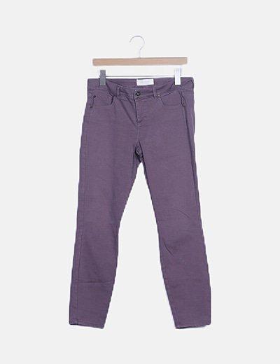 Jeans morado pitillo