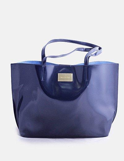Bolso shopper azul marino oscuro