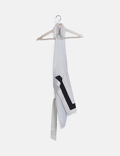 Vestido halter blanco