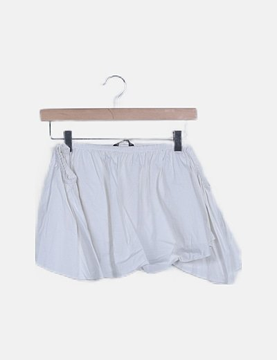 Blusa crop blanca volante