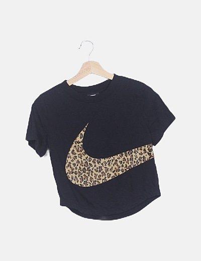 Camiseta crop animal print