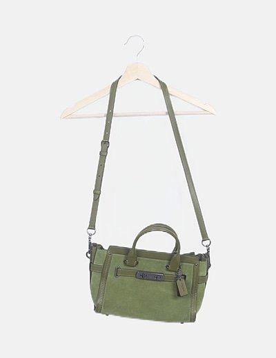 Bolso verde ante