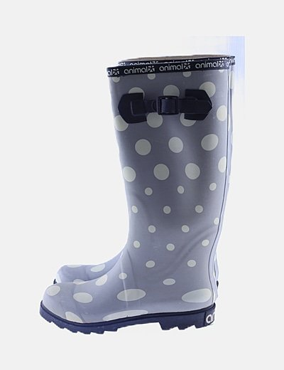 Botas de agua gris moteadas