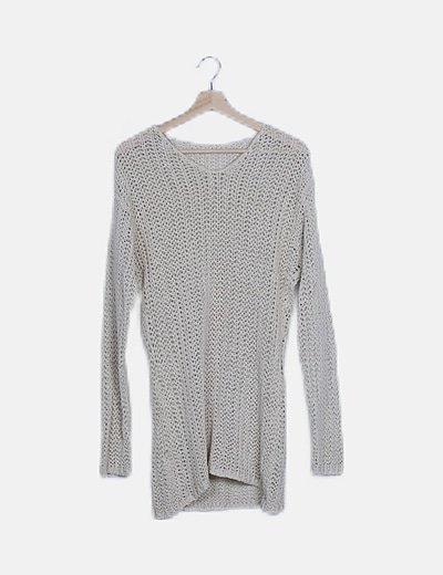 Vestido beige crochet