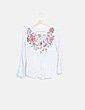 Blusa estampada floral manga larga Springfield