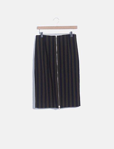 Falda rayas bicolor