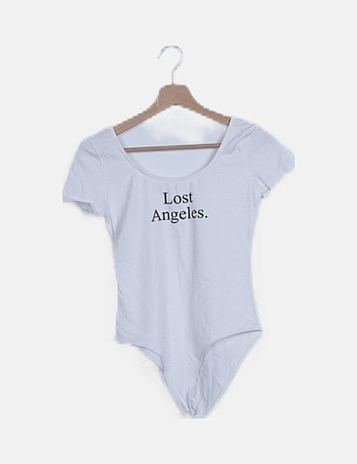 Body blanco print Lost Angeles