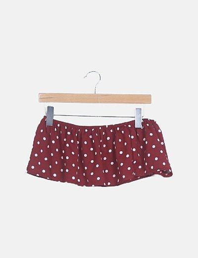 Conjunto de tops y falda con topos