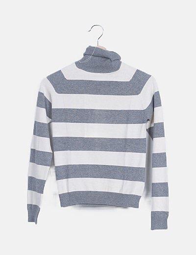 Suéter rayas grises