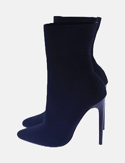 Botines calcetín negro
