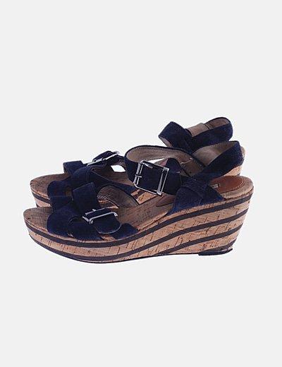 Sandalia tiras azul marino