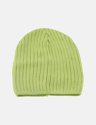 Gorro verde canalé