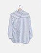 Camisa blanca de rayas NoName