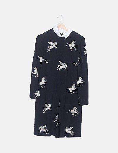 Vestido negro unicornios