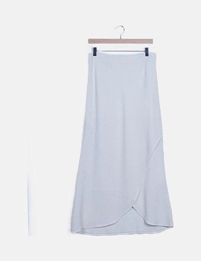 Conjunto blanco roto falda y blusa