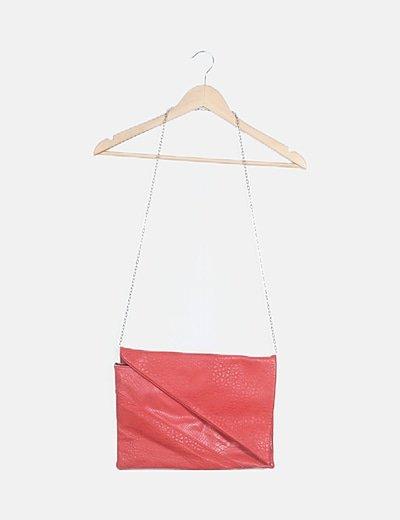 Bolso rojo texturizado