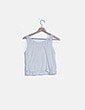 Camiseta blanca encaje Hollister