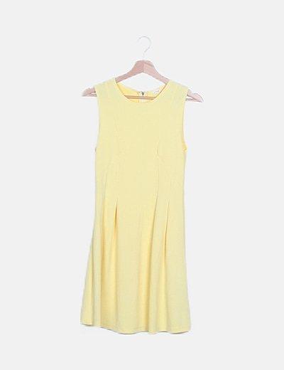 Vestido amarillo texturizado