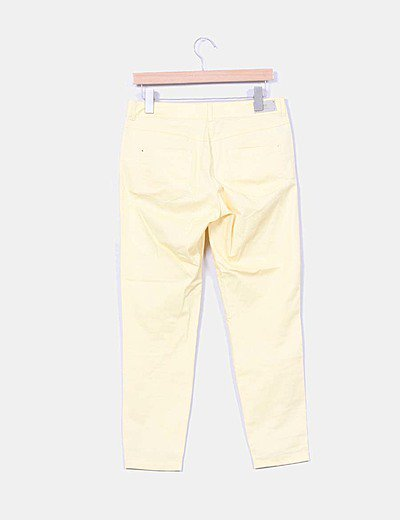 Mango Pantalon Amarillo Descuento 95 Micolet