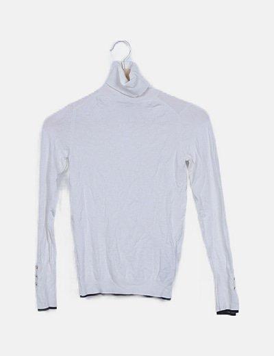 Suéter tricot blanco