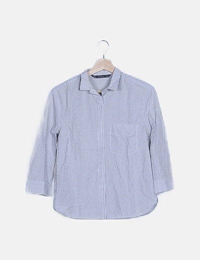 Camisa blanca rayas