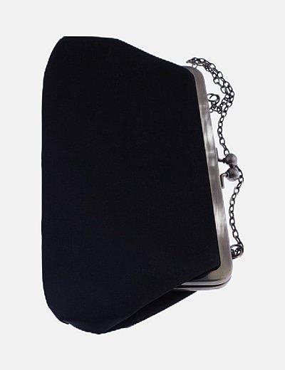 Bolso de mano negro irisado