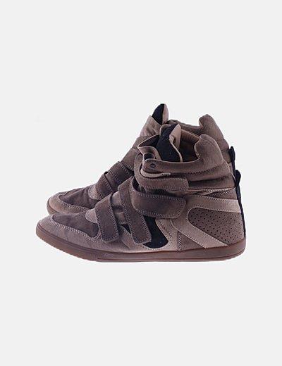 Zapatillas sneakers marrón