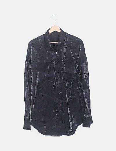 Conjunto camisa y pantalón brillo