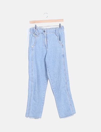 Jeans denim mom fit recto