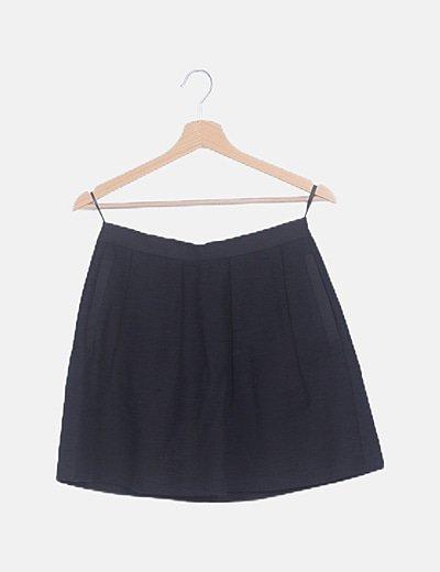 Falda negra jaquard