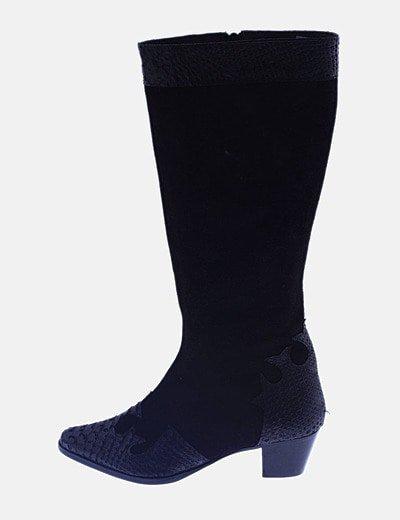 Botas negras combinadas