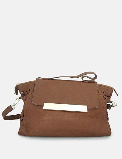 Bolso marrón troquelado
