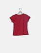Camiseta roja print mensaje Miss softy