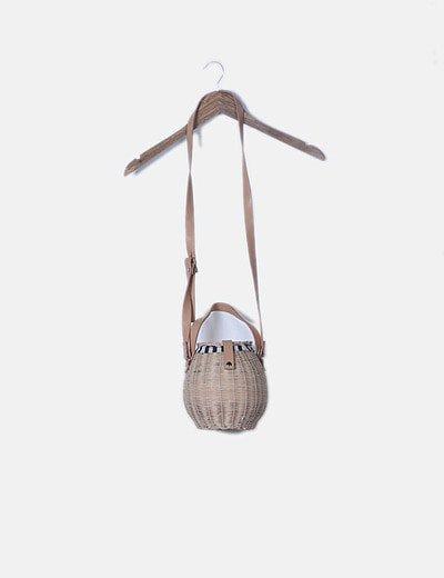 Bolso mimbre cesta