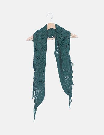 Bufanda verde crochet
