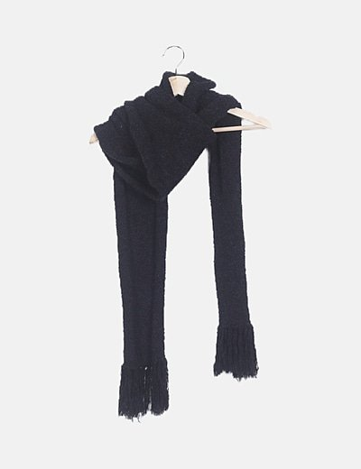 Bufanda negra combinada