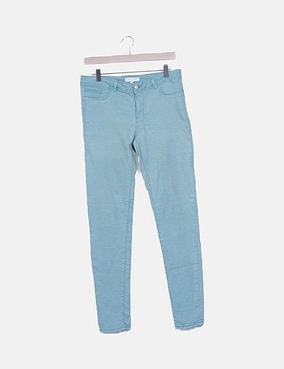 Jeans verdes pitillos