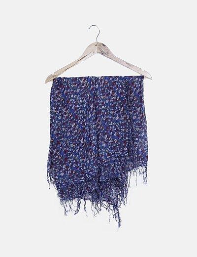 Pañuelo azul print floral