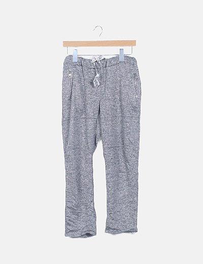 Pantalón deporte gris jaspeado