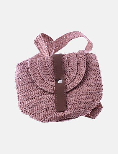 Bolso mini rafia rosa